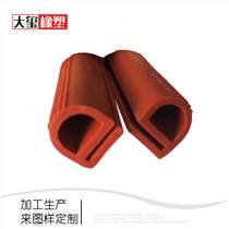 硅胶密封条彩色异型硅橡胶条耐高温橡胶制品加工定制