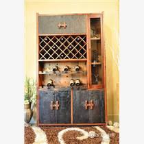 老船木博古架实木花架展示家具书架