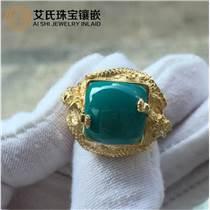 绿松石镶嵌湖北十堰艾氏珠宝专业镶嵌绿松石饰品