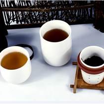 商務陶瓷快客杯  禮品訂做加字快客杯  旅行茶杯茶具