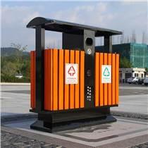 室外公园景区 钢木垃圾桶 环卫果皮箱 钢木果皮箱