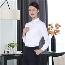 韓版免燙立領女式襯衫ol長袖修身職業女褲套裝商務休閑