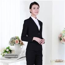 湖南职业装定做黑色长袖来样定做