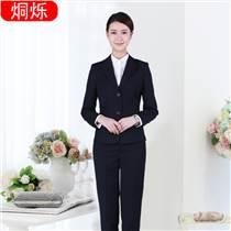 时尚西服两件套翻盖口袋女士商务正装厂家定制