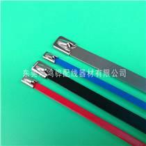 鸿骅自锁式扎带,9宽喷塑自锁式不锈钢扎带东莞生产厂家