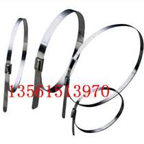 自锁式不锈钢扎带白钢捆绑带 管箍管夹 油管扎带