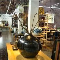 黑花瓶景德鎮陶瓷定制各類瓷瓶瓷缸家居軟裝可DIY