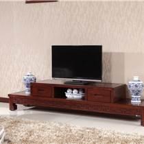 木言木語新中式黃菠蘿木實木電視柜 環保組合電視柜