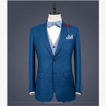 北京瑪佐尼提供男士商務藍色西裝定制