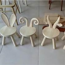 供应儿童卡通椅儿童实木桌椅白茬卡通动物椅白茬