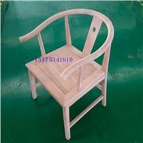 新中式實木餐椅白茬簡約中式客椅禪意椅辦公餐廳桌椅