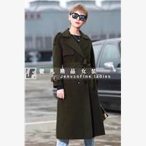 品牌折扣女裝尾貨批發|阿爾巴卡雙面絨呢子大衣