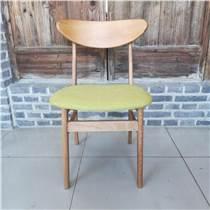 實木靠背椅家用餐廳辦公椅咖啡廳酒吧椅蝴蝶椅簡約休閑