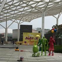 上海商場入口臺階人物購物雕塑