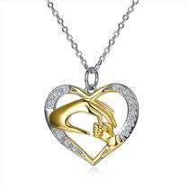 莱卡尼母亲节新款心形浪漫纯银项链