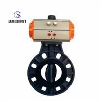 D671S氣動PVC塑料對夾蝶閥現貨供應