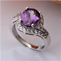润培 精美镶嵌锆石女士戒指 专业生产首饰厂家可来样定