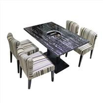 众美德生产加工大理石火锅桌,火锅店餐桌,大理石餐桌图
