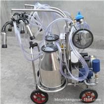 奶牛擠奶機 真空泵不銹鋼單雙桶移動式脈動擠奶機