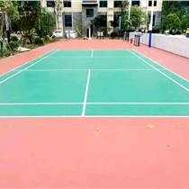 弹性丙烯酸乒乓球场建设厂家绿红搭配很帅气天津西青