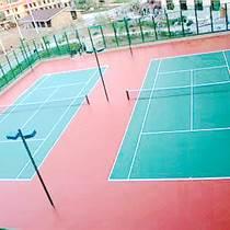 进口丙烯酸排球场划线公司红绿搭配很帅气天津北辰