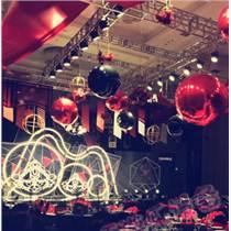 舞台派对装饰充气镜面球商场悬挂空中球反光镜面充气球