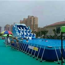 大型支架游泳池水上樂園需要投資多少錢
