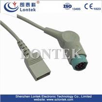 西门子监护仪10针IBP有创血压电缆连接线转UTAH