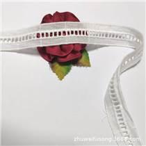 供應白色刺繡樓梯格花邊 全棉鏤空水溶刺繡花邊歡迎定制