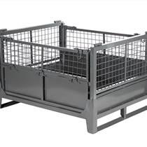 折叠仓储笼金属物流周转箱铁框快递铁笼子仓储笼车储物笼
