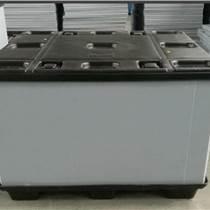 折疊式塑料周轉箱 汽車行業塑料圍板箱深圳三兄