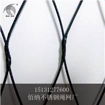 廠家直銷黑色氧化不銹鋼304繩網氧化不銹鋼扣網專業繩