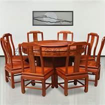 緬甸花梨木餐桌紅木家具