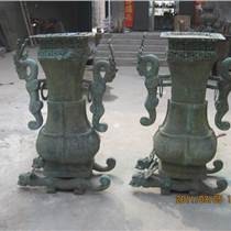 龙耳方壶仿古工艺定制铸造复制商务礼品广场室外铜雕