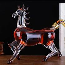 河北永鑫工艺酒瓶 高硼硅玻璃动物造型马 白酒瓶 红酒