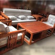 巴花新中式沙发六件套 红木家具