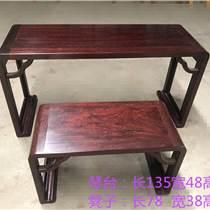 赞比亚血檀琴台 新中式红木家具 张家港家具