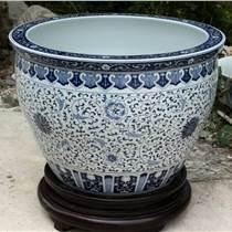 彩绘陶瓷鱼缸 陶瓷花盆 70公分大缸