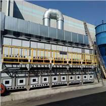 催化燃烧RCO处理叉车机械车喷涂废气过程催化燃烧装置