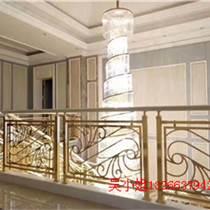 荆州铝艺雕花楼梯装饰楼梯护栏安装后大图