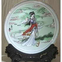 中式精品家居掛盤 嫦娥奔月中秋禮品紀念盤