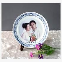 圖案定制紀念盤 結婚婚紗紀念照陶瓷紀念盤