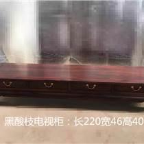 精品黑酸枝電視柜 簡約現代電視柜