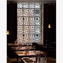 山東金筑達高端餐廳不銹鋼花格屏風  鏤空雕花不銹鋼隔