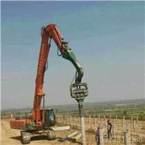 四川成都直銷混凝土預制樁打樁機 公路打樁機廠家 挖機