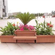 广场中心花园塑木花箱  郑州小区售楼部组合木塑花箱