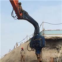 公路液壓打樁機 114波形護欄打樁機 高頻液壓振動打