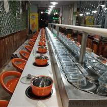廠家供應旋轉火鍋設備 回轉火鍋設備 旋轉涮烤鍋設備
