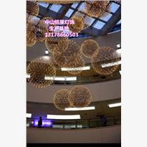 大型商場中庭吊飾定制工廠銘星燈飾專業訂做中廳吊頂美陳