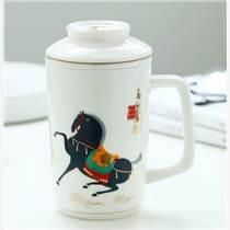 景德镇陶瓷茶杯定做办公室水杯马克杯定做商务礼品对杯陶